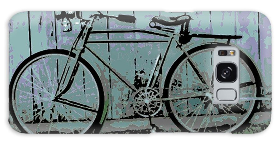 1918 Galaxy S8 Case featuring the photograph 1918 Harley Davidson Bicycle by George Pedro