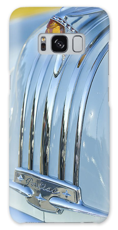 1948 Pontiac Galaxy S8 Case featuring the photograph 1948 Pontiac Hood Ornament 3 by Jill Reger
