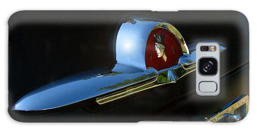 1953 Mercury Monterey Galaxy S8 Case featuring the photograph 1953 Mercury Monterey Hood Emblem by Peter Piatt