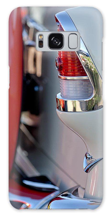 1955 Chevrolet Belair Galaxy S8 Case featuring the photograph 1955 Chevrolet Belair Taillight Emblem by Jill Reger