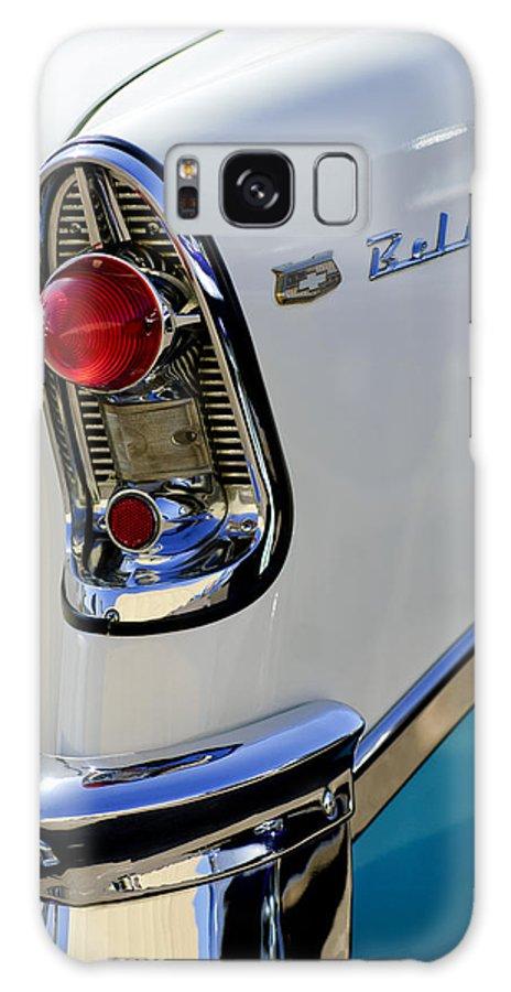1956 Chevrolet Belair Galaxy S8 Case featuring the photograph 1956 Chevrolet Belair Taillight Emblem by Jill Reger
