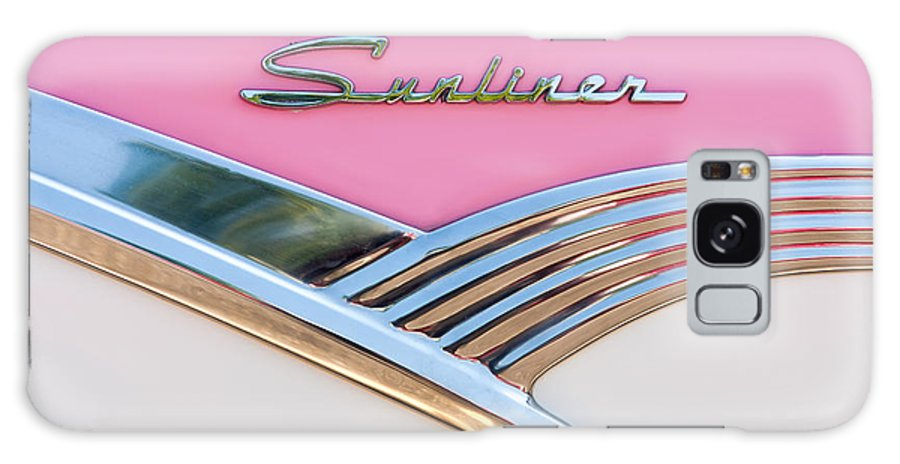 Clarence Holmes Galaxy S8 Case featuring the photograph 1956 Ford Fairlane Sunliner by Clarence Holmes