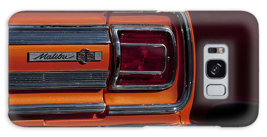 1965 Chevrolet Malibu Ss Galaxy S8 Case featuring the photograph 1965 Chevrolet Malibu Ss Taillight Emblem by Jill Reger