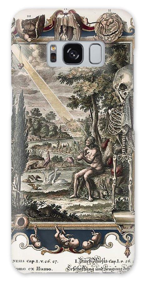 18th Century Galaxy S8 Case featuring the photograph 1731 Johann Scheuchzer Creation Of Man by Paul D Stewart