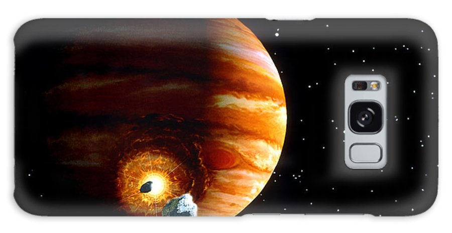 Shoemaker-levy 9 Galaxy S8 Case featuring the photograph Artwork Of First Comet Impacts On Jupiter, 1994 by Julian Baum