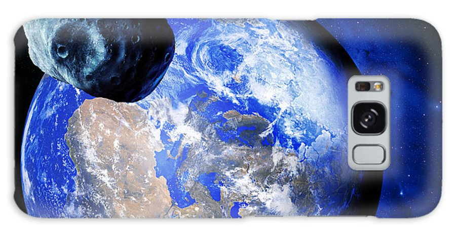Astronomy Galaxy S8 Case featuring the photograph Asteroid Approaching Earth by Detlev Van Ravenswaay