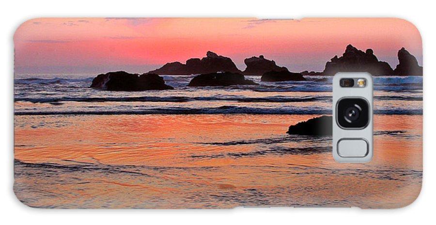Bandon Beach Sunset Galaxy S8 Case featuring the photograph Bandon by Jean Noren