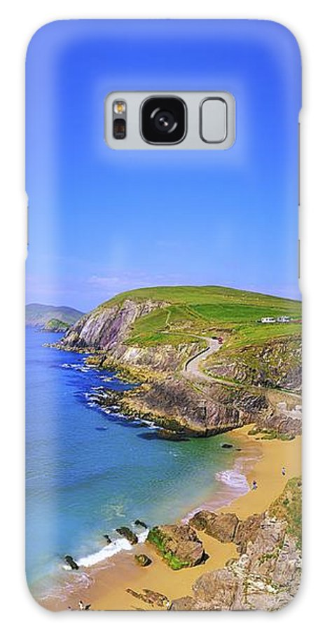 Blue Sky Galaxy S8 Case featuring the photograph Coumeenoole Beach, Dingle Peninsula, Co by The Irish Image Collection