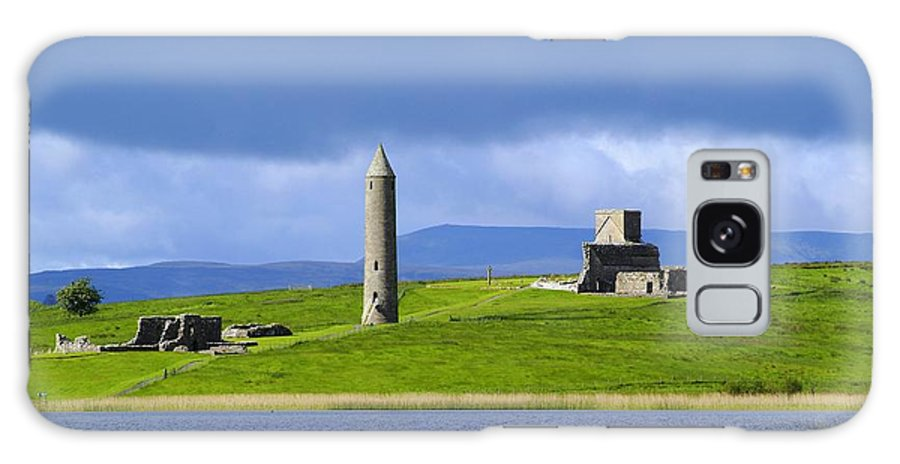 Architectural Exteriors Galaxy S8 Case featuring the photograph Devenish Monastic Site, Co. Fermanagh by The Irish Image Collection