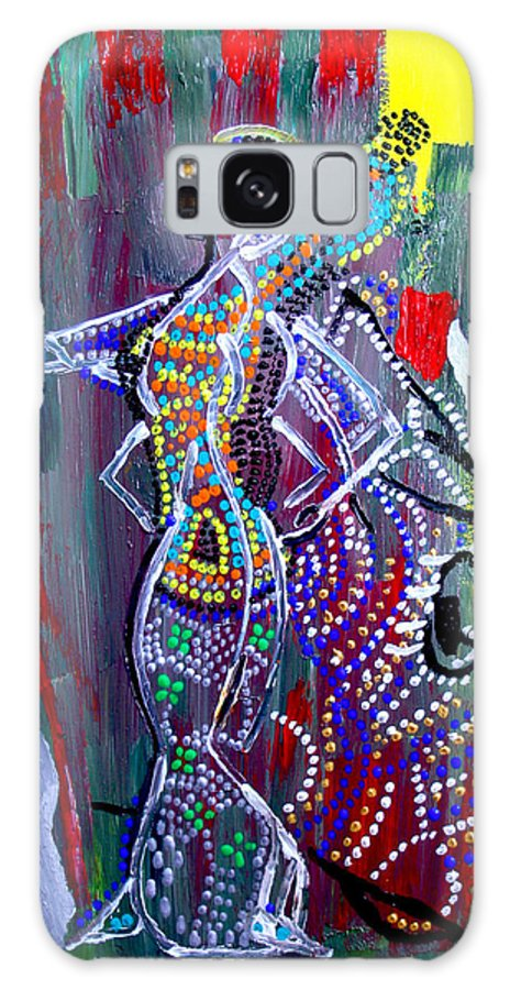 Jesus Galaxy S8 Case featuring the painting Dinka Lady - South Sudan by Gloria Ssali