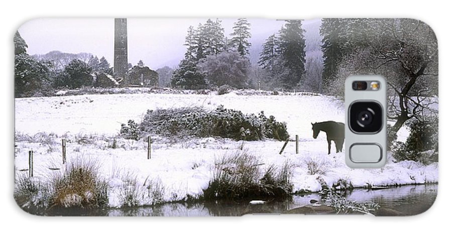 Abbeys Galaxy S8 Case featuring the photograph Glendalough, Co Wicklow, Ireland by The Irish Image Collection