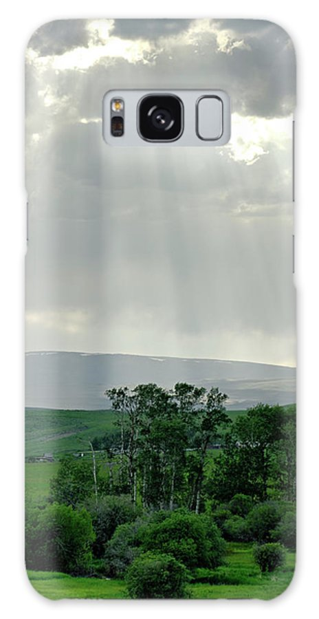 Americas Galaxy S8 Case featuring the photograph Rain Sun Rays by Roderick Bley