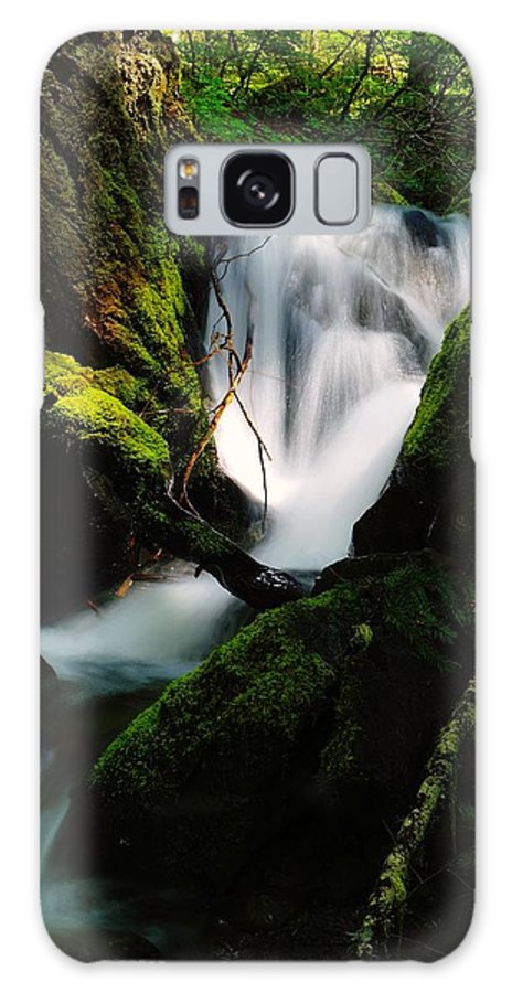 Water Galaxy S8 Case featuring the photograph Small Waterfall by Jeff Swan