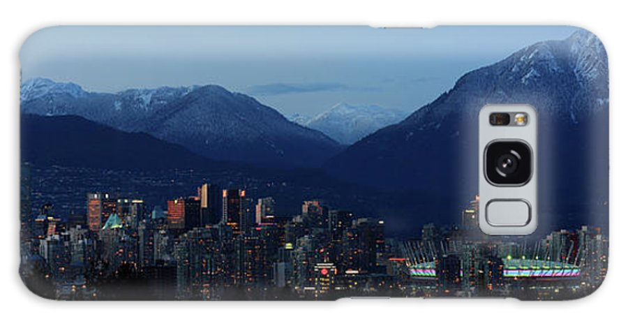 Vancouver Galaxy S8 Case featuring the photograph Vancouver City Twilight Panorama by Pierre Leclerc Photography
