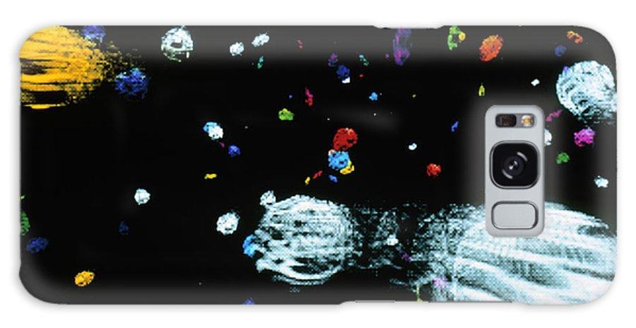 Quark-gluon Plasma Galaxy S8 Case featuring the photograph Visualisation Of Primordial Quark/gluon Plasma by Arscimed