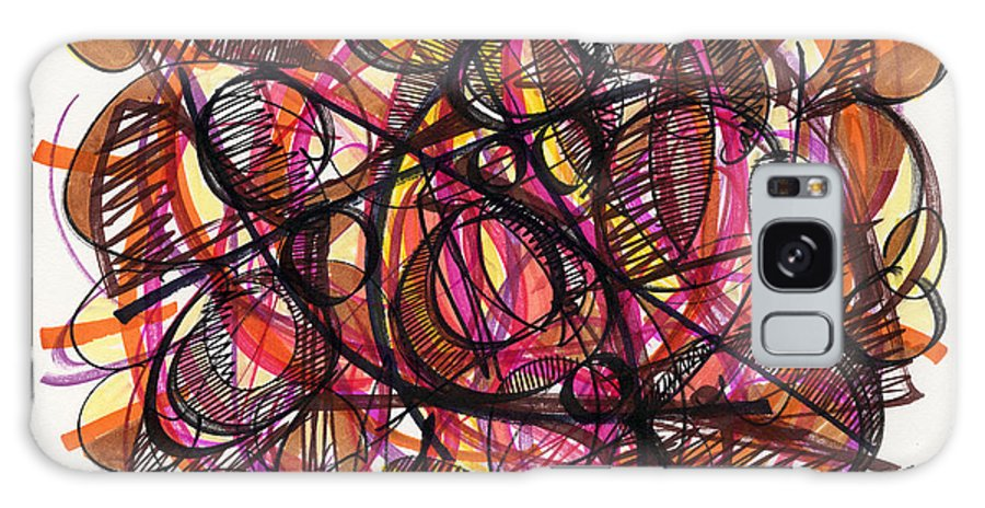 Abstract Drawing Galaxy S8 Case featuring the drawing 2010 Abstract Drawing 24 by Lynne Taetzsch