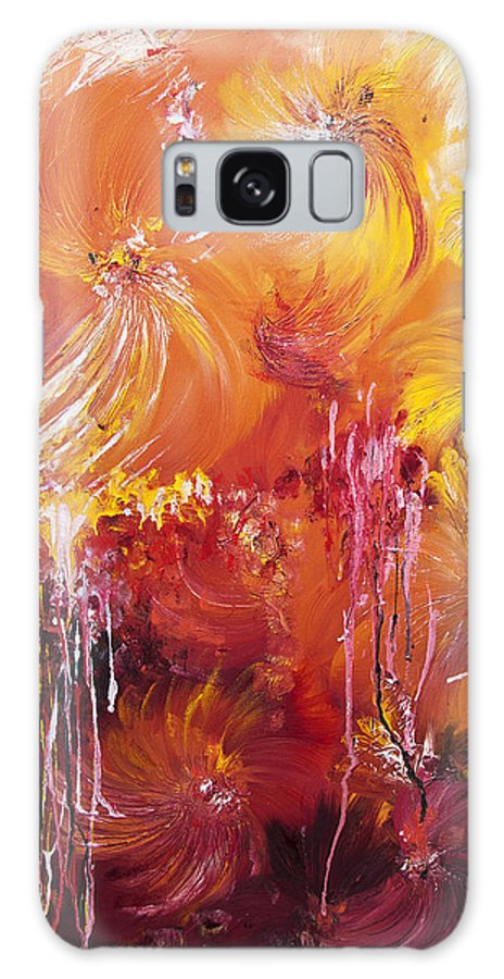 Abstract Galaxy S8 Case featuring the painting 207916 by Svetlana Sewell