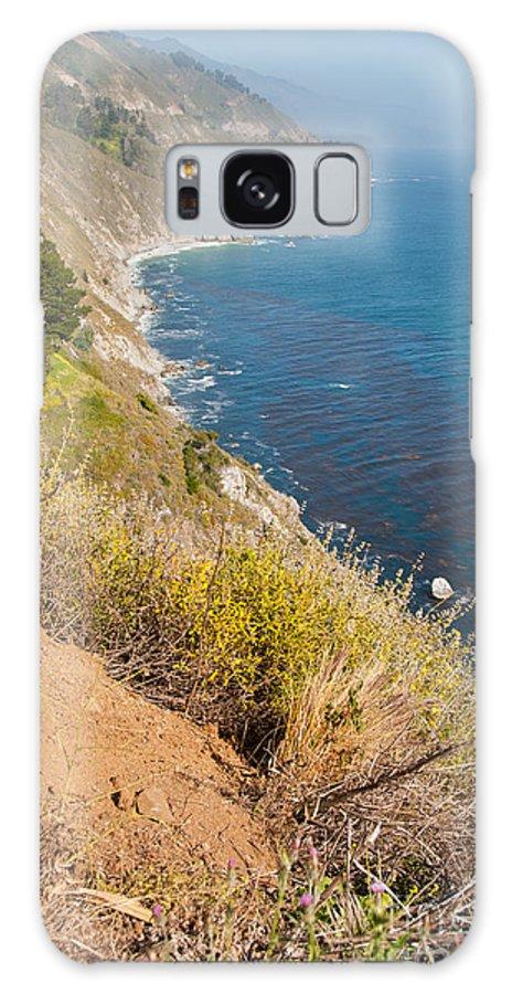 Beach Galaxy S8 Case featuring the digital art Along Big Sur by Carol Ailles