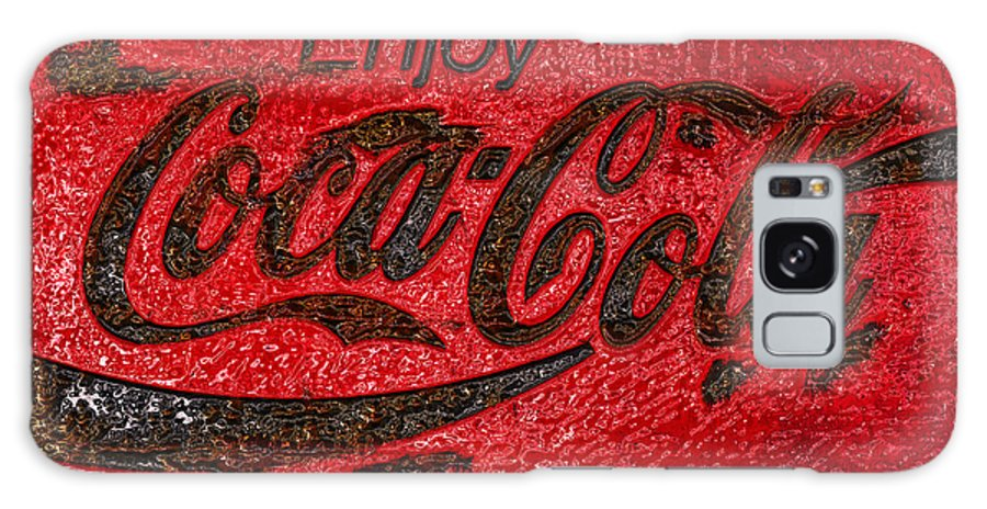 Coca Cola Galaxy S8 Case featuring the photograph Coca Cola Classic Vintage Rusty Sign by John Stephens