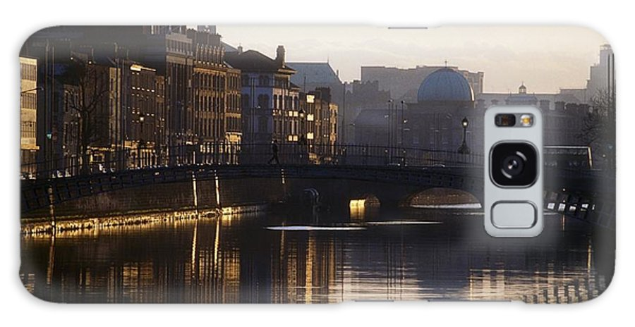 Back Lit Galaxy S8 Case featuring the photograph River Liffey, Dublin, Co Dublin, Ireland by The Irish Image Collection