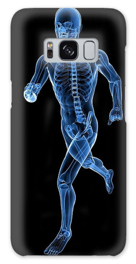 Artwork Galaxy S8 Case featuring the photograph Running Skeleton, Artwork by Sciepro