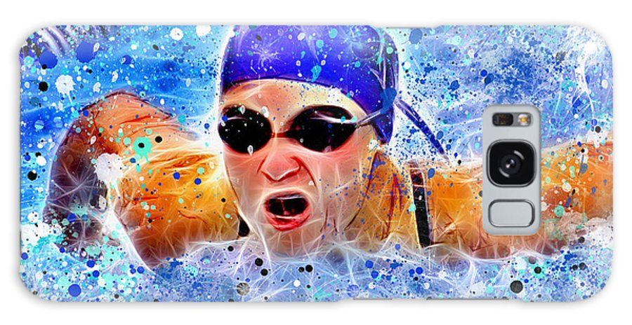 Swimmer Galaxy S8 Case featuring the digital art Swimmer by Stephen Younts