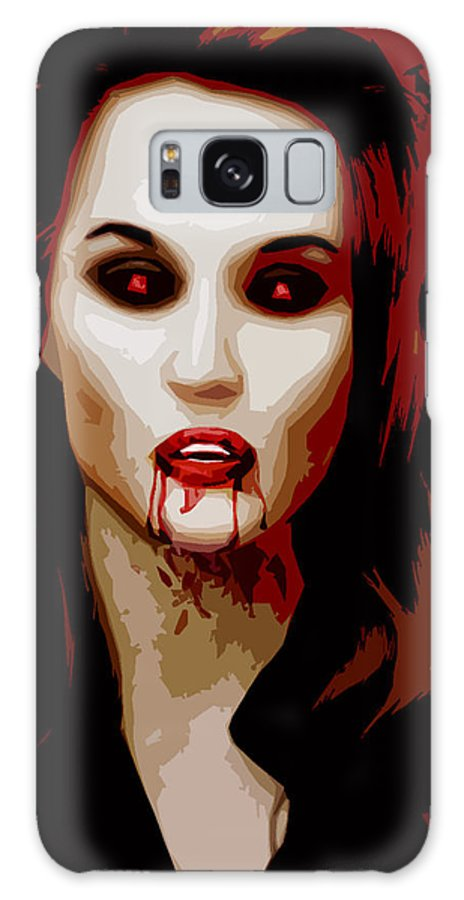 Goth Galaxy S8 Case featuring the digital art Untitled by Russell Clenney