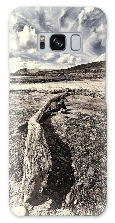 Driftwood. Manorbier Beach Galaxy S8 Case featuring the photograph Driftwood by Steve Purnell