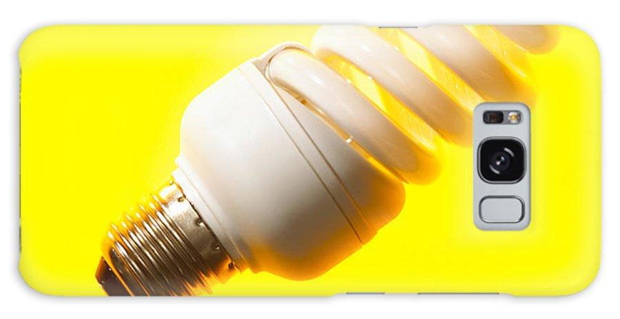Light Bulb Galaxy S8 Case featuring the photograph Energy-saving Light Bulb by Mark Sykes
