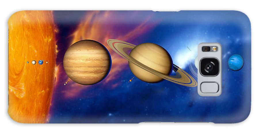 Neptune Galaxy S8 Case featuring the photograph Sun And Its Planets by Detlev Van Ravenswaay