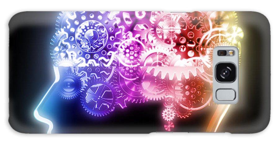Art Galaxy S8 Case featuring the photograph Brain Design By Cogs And Gears by Setsiri Silapasuwanchai