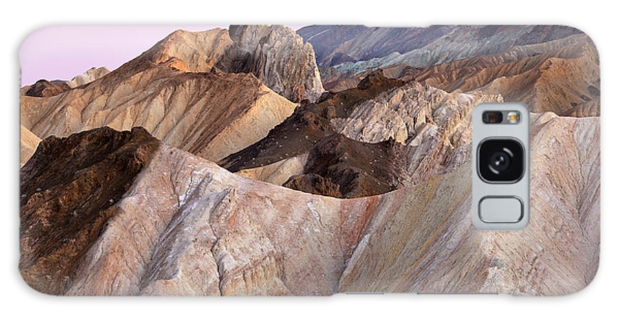 Badlands Galaxy S8 Case featuring the photograph Golden Canyon Death Valley by Dean Pennala