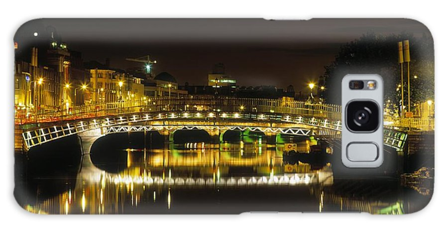 19th Century Galaxy S8 Case featuring the photograph Hapenny Bridge, River Liffey, Dublin by The Irish Image Collection