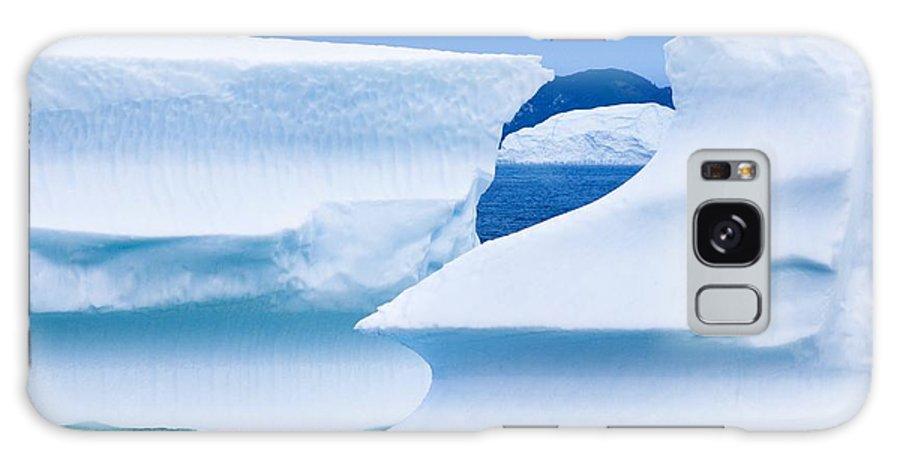 Ice Galaxy S8 Case featuring the photograph Icebergs, Canada by David Nunuk