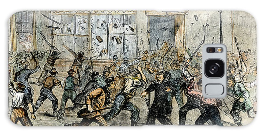 1863 Galaxy S8 Case featuring the photograph Civil War: Draft Riots by Granger