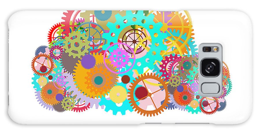 Art Galaxy S8 Case featuring the painting Gears Wheels Design by Setsiri Silapasuwanchai