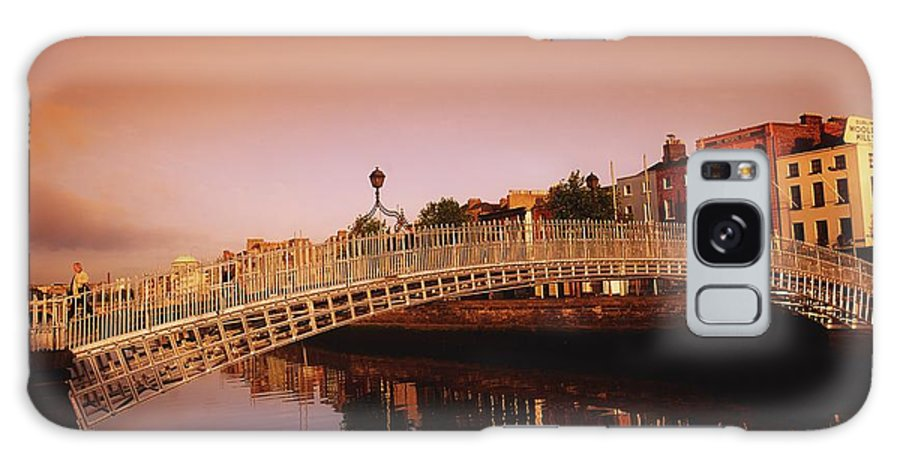 Outdoors Galaxy S8 Case featuring the photograph Hapenny Bridge, River Liffey, Dublin by The Irish Image Collection