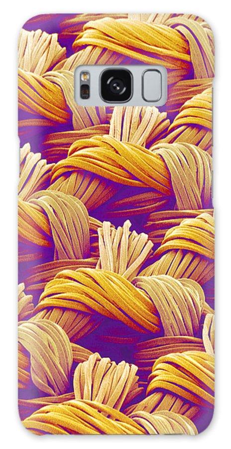 Cloth Galaxy S8 Case featuring the photograph Woven Fabric, Sem by Susumu Nishinaga