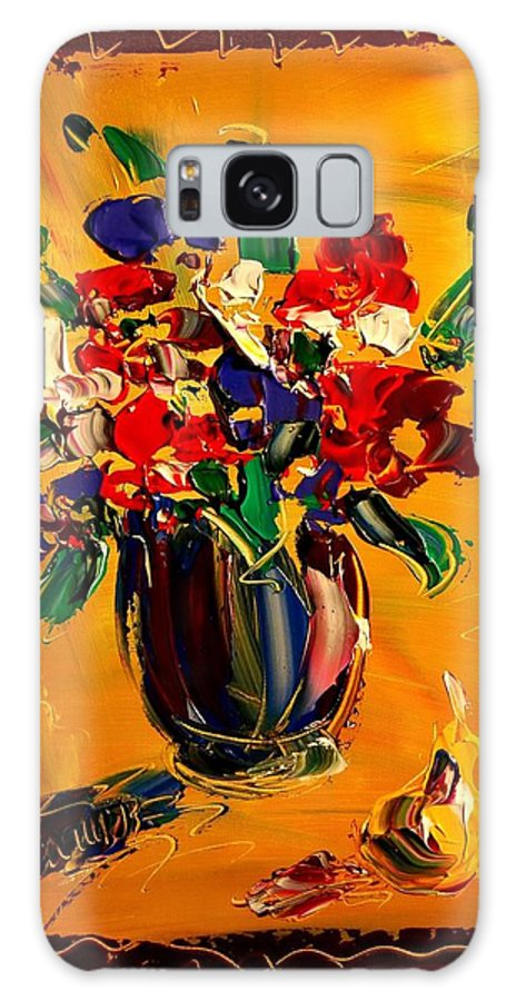 Galaxy S8 Case featuring the mixed media Flowers by Mark Kazav