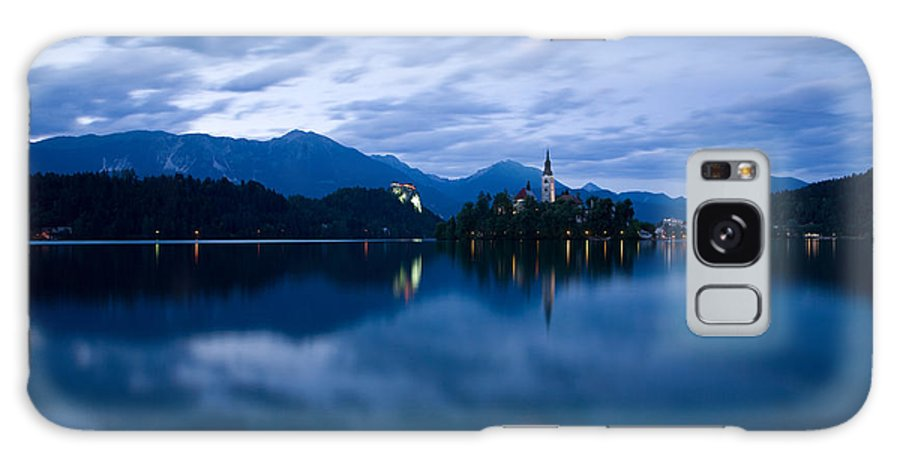 Bled Galaxy S8 Case featuring the photograph Dusk Over Lake Bled by Ian Middleton