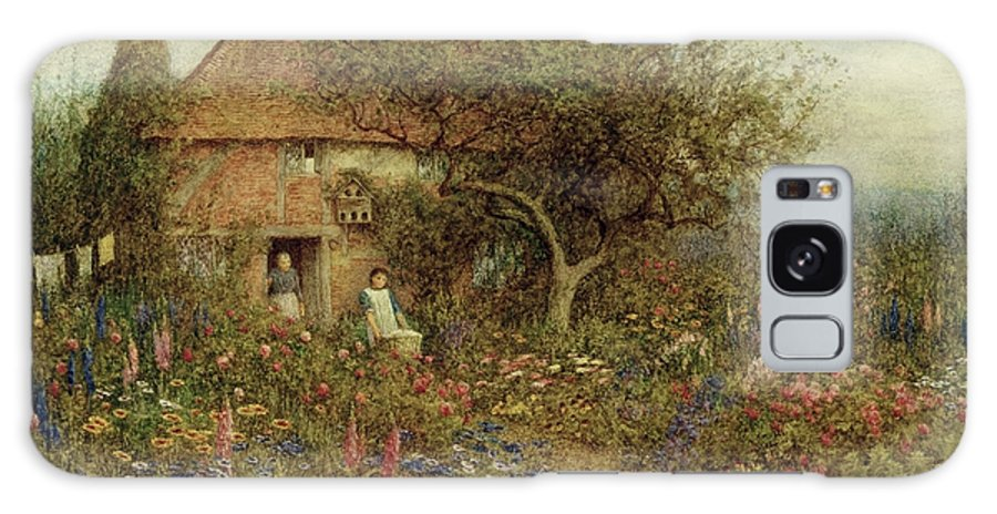 A Cottage Near Brook Galaxy S8 Case featuring the painting A Cottage Near Brook Witley Surrey by Helen Allingham