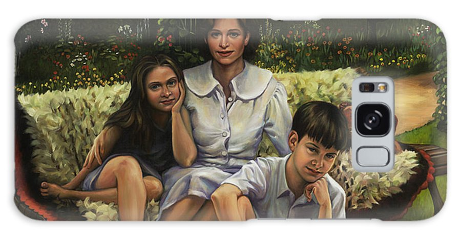 Portrait Galaxy S8 Case featuring the painting A Family Portrait by Patrick Anthony Pierson