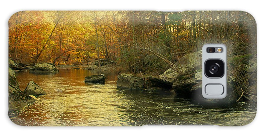 Creek Galaxy S8 Case featuring the photograph A Golden Autumn At The Unami by Mother Nature