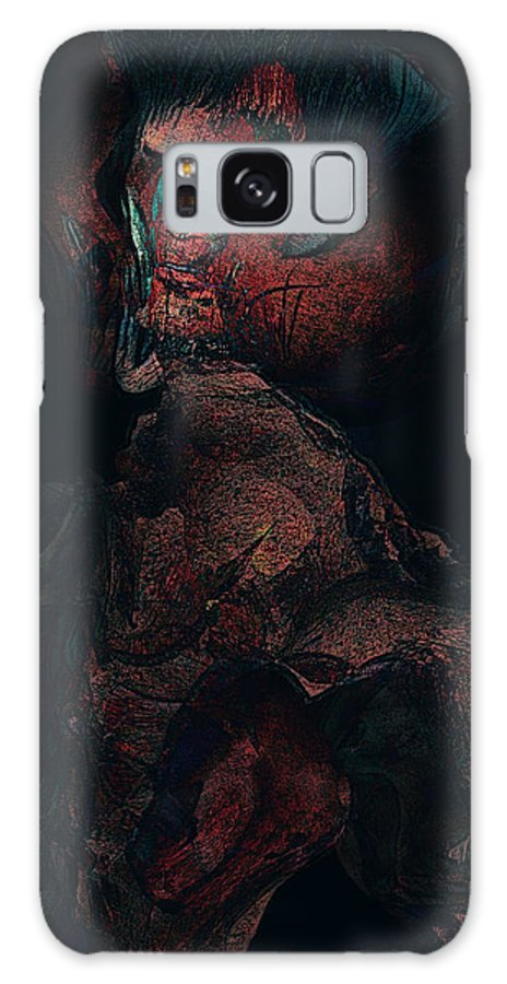 Abstract Portrait Galaxy S8 Case featuring the painting A Haunting Betrayal by Maynard Ellis