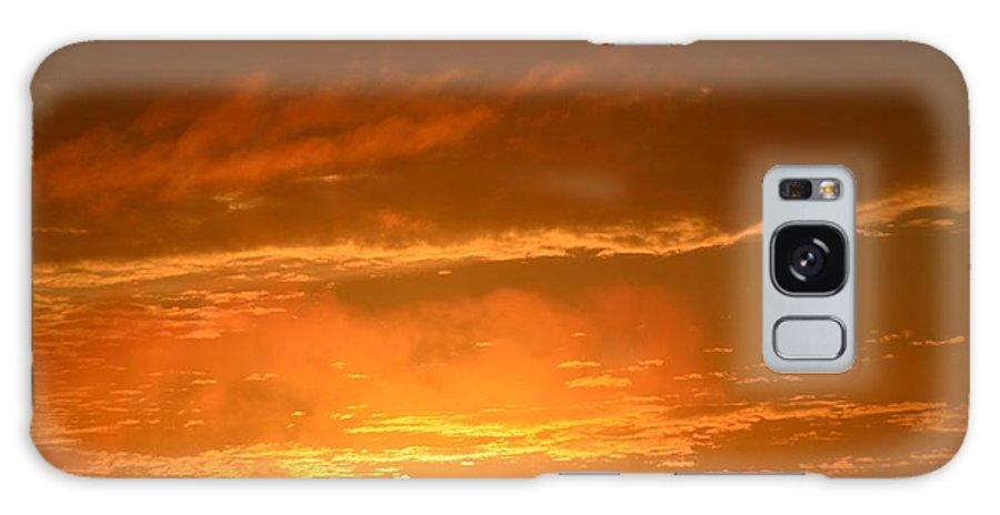 Peeking Galaxy S8 Case featuring the photograph A Peeking Sunrise by Maria Urso
