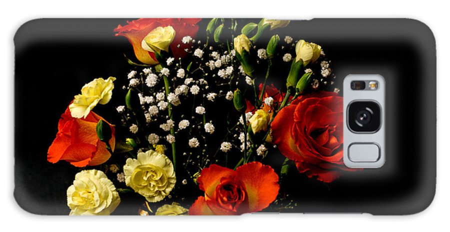 Rose Bouquet Black Background Galaxy S8 Case featuring the photograph A Rose Bouquet by Steve Purnell
