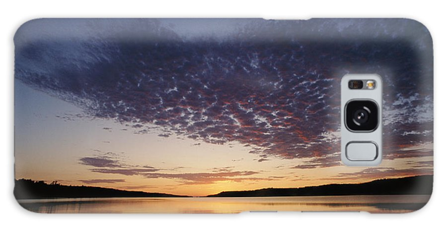 Moskey Basin Galaxy S8 Case featuring the photograph A View Of A Lake Right After The Sun by Phil Schermeister