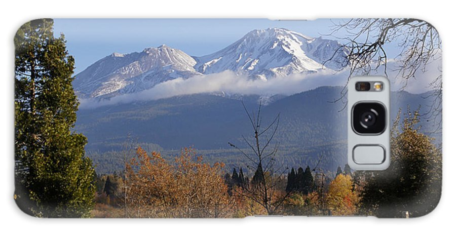 Road Galaxy S8 Case featuring the photograph A View Toward Mt Shasta In Autumn by Mick Anderson