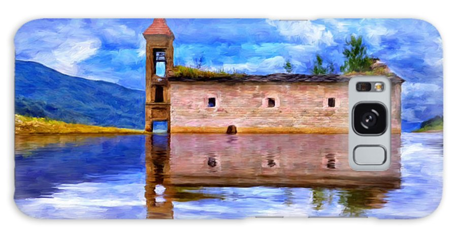 Abandoned Church Galaxy S8 Case featuring the painting Abandoned Church In Macedonia by Dominic Piperata