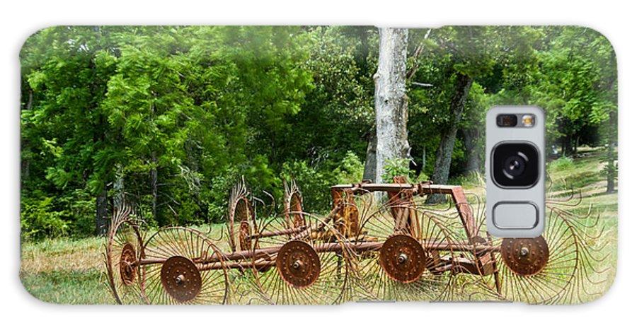 Farm Galaxy S8 Case featuring the photograph Abandoned Hay Rake 2 by Douglas Barnett